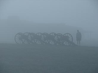 Antietam Cannon in the mist