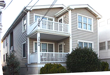 3506 West Ave, Ocean city New Jersey. 2nd floor. Three bedrooms, two baths, central air conditioning, parking for one car. Rented weeks are indicated by a minus sign.